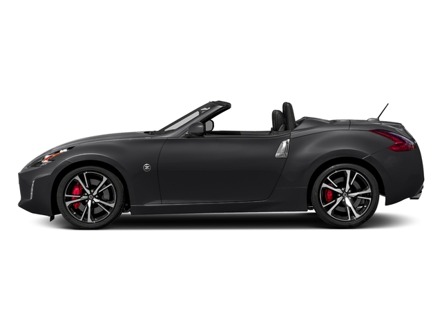 Magnetic Black 2018 Nissan 370Z Roadster Pictures 370Z Roadster Touring Auto photos side view