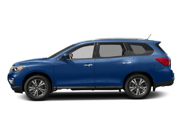 Caspian Blue 2018 Nissan Pathfinder Pictures Pathfinder FWD SV photos side view