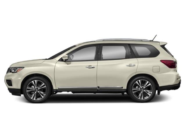 Pearl White 2018 Nissan Pathfinder Pictures Pathfinder Utility 4D Platinum 2WD V6 photos side view