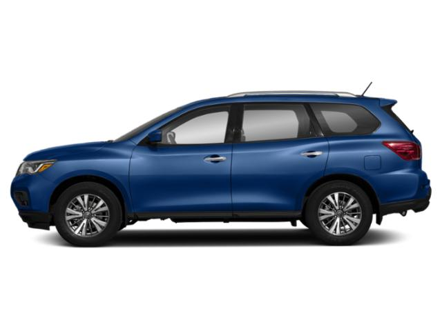 Caspian Blue 2018 Nissan Pathfinder Pictures Pathfinder 4x4 S photos side view