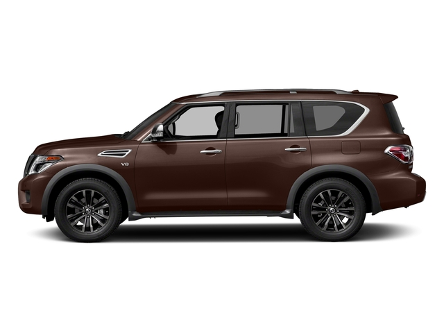Mocha Almond 2018 Nissan Armada Pictures Armada 4x2 Platinum photos side view