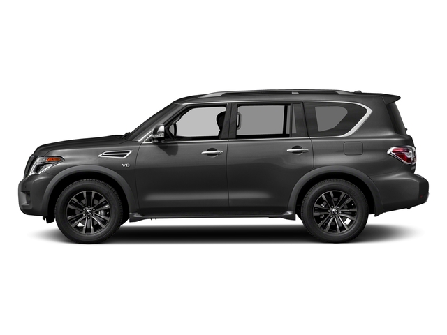 Gun Metallic 2018 Nissan Armada Pictures Armada 4x2 Platinum photos side view