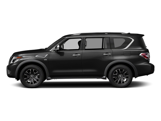Super Black 2018 Nissan Armada Pictures Armada 4x2 Platinum photos side view