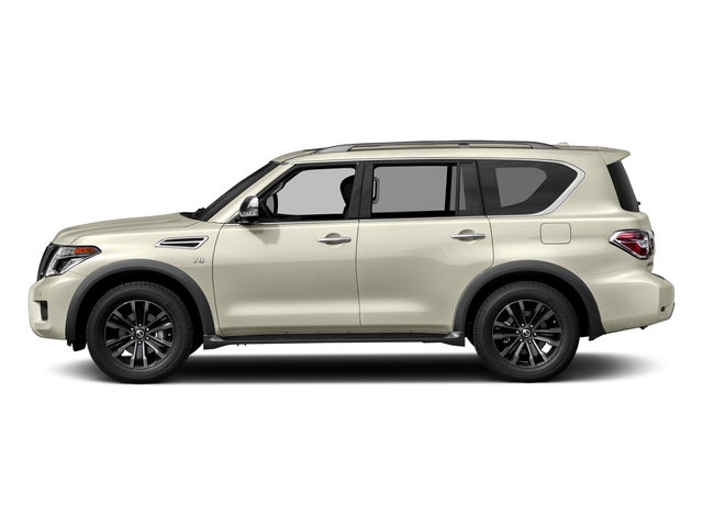 Pearl White 2018 Nissan Armada Pictures Armada 4x2 Platinum photos side view