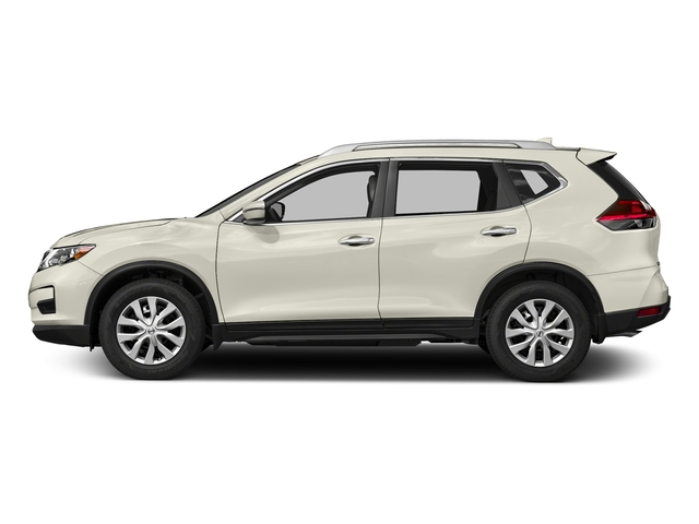 Glacier White 2018 Nissan Rogue Pictures Rogue FWD S photos side view