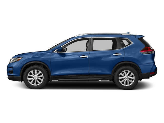 Caspian Blue 2018 Nissan Rogue Pictures Rogue FWD S photos side view
