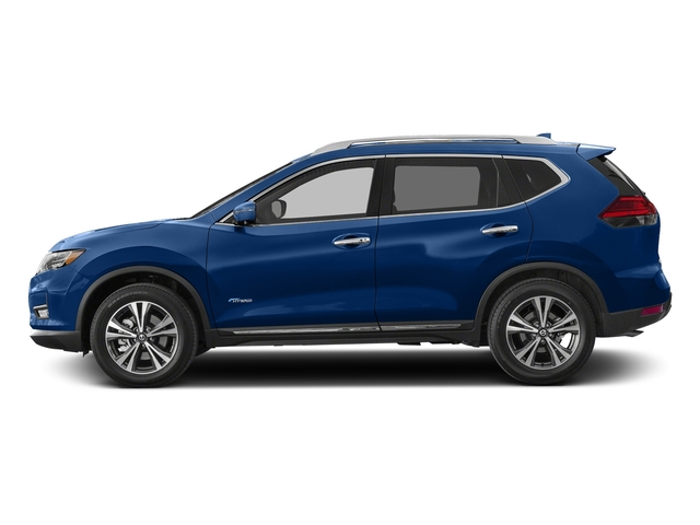 Caspian Blue 2018 Nissan Rogue Pictures Rogue FWD SL Hybrid photos side view