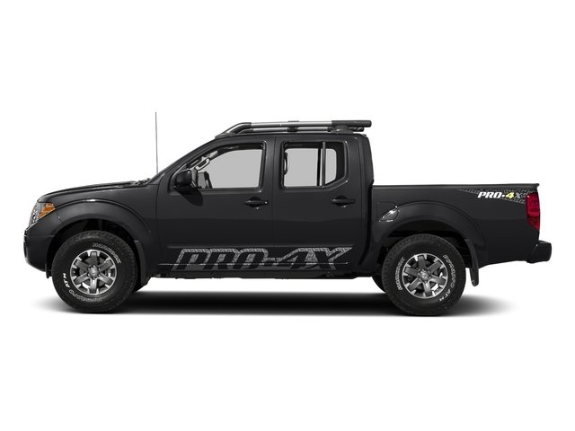 Magnetic Black 2018 Nissan Frontier Pictures Frontier Crew Cab 4x4 PRO-4X Manual photos side view