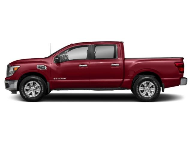 Cayenne Red 2018 Nissan Titan Pictures Titan 4x4 Crew Cab SV photos side view