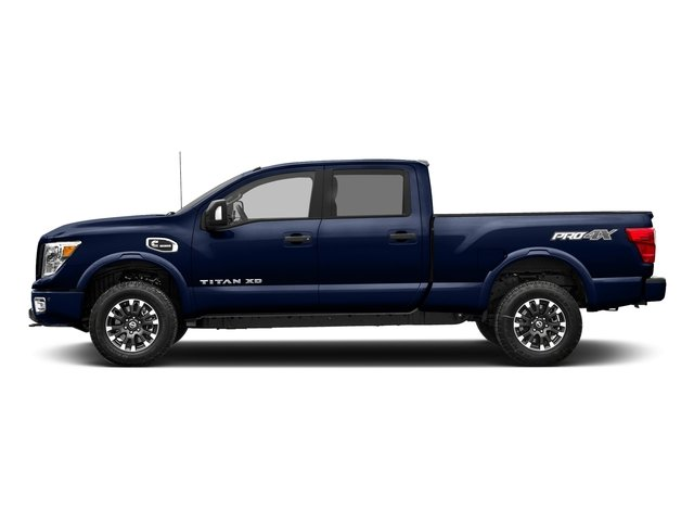 Deep Blue Pearl 2018 Nissan Titan XD Pictures Titan XD Crew Cab PRO-4X 4WD photos side view