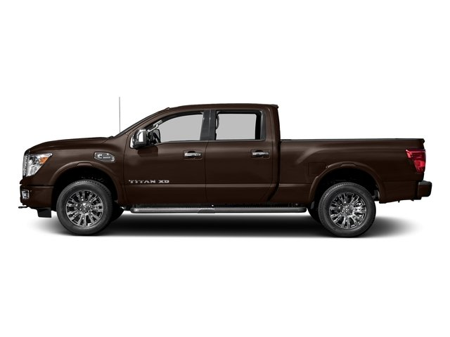 Java Metallic 2018 Nissan Titan XD Pictures Titan XD 4x4 Diesel Crew Cab Platinum Reserve photos side view