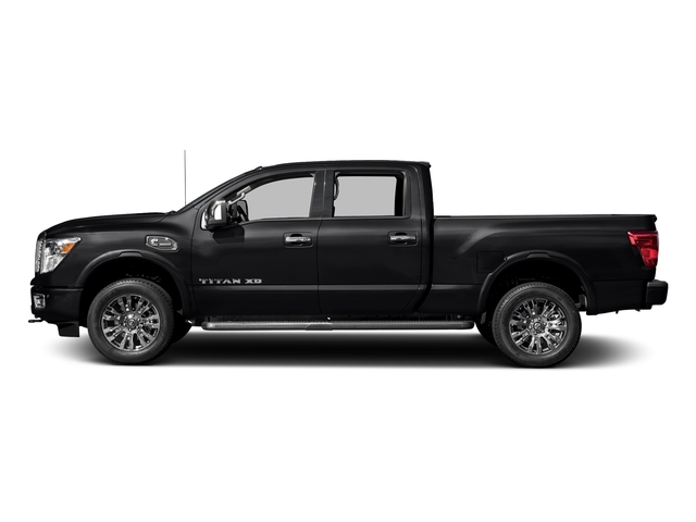 Magnetic Black 2018 Nissan Titan XD Pictures Titan XD 4x4 Diesel Crew Cab Platinum Reserve photos side view