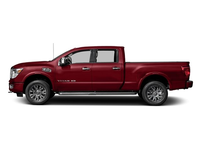Cayenne Red 2018 Nissan Titan XD Pictures Titan XD 4x4 Diesel Crew Cab Platinum Reserve photos side view