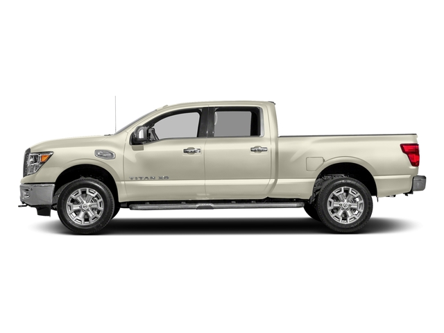 Pearl White 2018 Nissan Titan XD Pictures Titan XD 4x2 Gas Crew Cab SL photos side view