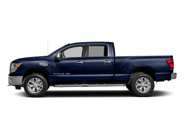 Deep Blue Pearl 2018 Nissan Titan XD Pictures Titan XD 4x2 Gas Crew Cab SL photos side view