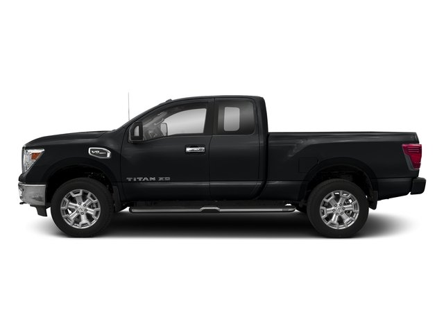 Magnetic Black 2018 Nissan Titan XD Pictures Titan XD 4x4 Diesel King Cab PRO-4X photos side view