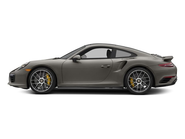 Agate Grey Metallic 2018 Porsche 911 Pictures 911 Turbo S Coupe photos side view