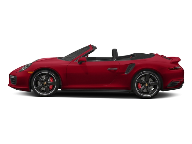 Carmine Red 2018 Porsche 911 Pictures 911 Turbo Cabriolet photos side view