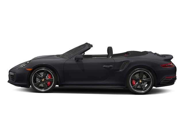 Jet Black Metallic 2018 Porsche 911 Pictures 911 Turbo Cabriolet photos side view