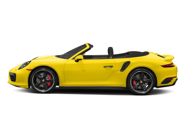 Saffron Yellow Metallic 2018 Porsche 911 Pictures 911 Turbo Cabriolet photos side view