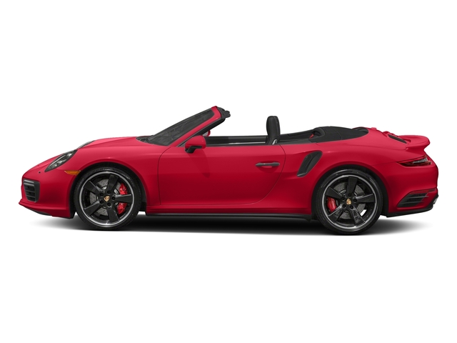 Guards Red 2018 Porsche 911 Pictures 911 Turbo Cabriolet photos side view