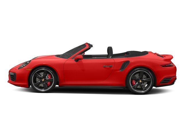 Lava Orange 2018 Porsche 911 Pictures 911 Turbo Cabriolet photos side view