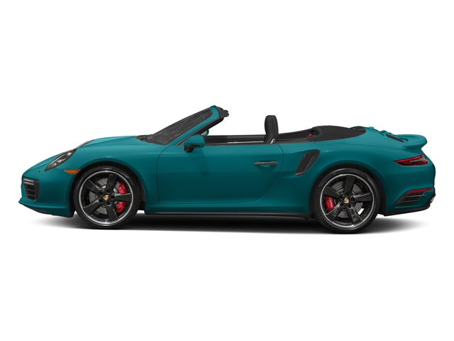 Miami Blue 2018 Porsche 911 Pictures 911 Turbo Cabriolet photos side view