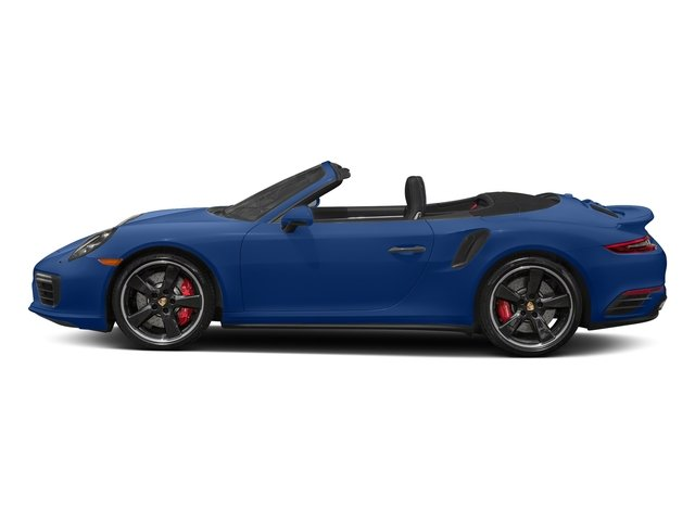Sapphire Blue Metallic 2018 Porsche 911 Pictures 911 Turbo Cabriolet photos side view