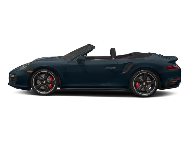 Night Blue Metallic 2018 Porsche 911 Pictures 911 Turbo Cabriolet photos side view