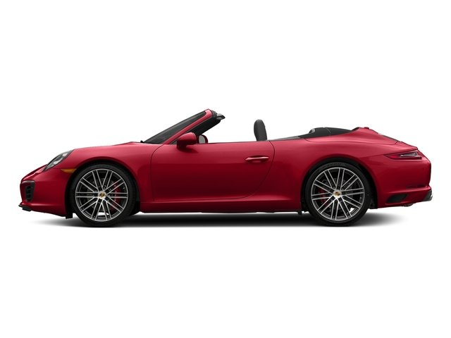 Carmine Red 2018 Porsche 911 Pictures 911 Carrera S Cabriolet photos side view