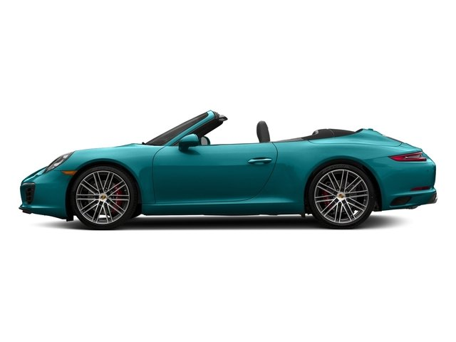 Miami Blue 2018 Porsche 911 Pictures 911 Carrera S Cabriolet photos side view