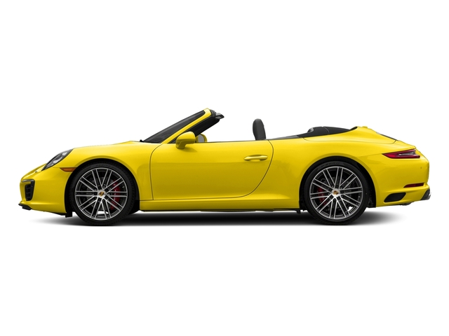 Racing Yellow 2018 Porsche 911 Pictures 911 Carrera S Cabriolet photos side view