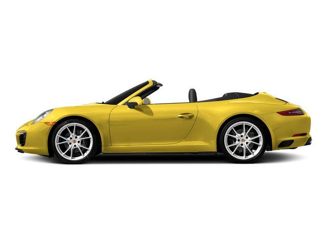 Racing Yellow 2018 Porsche 911 Pictures 911 Carrera 4 Cabriolet photos side view