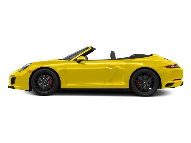 Racing Yellow 2018 Porsche 911 Pictures 911 Carrera GTS Cabriolet photos side view