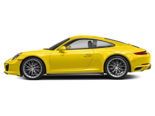 Racing Yellow 2018 Porsche 911 Pictures 911 Coupe 2D 4 AWD H6 Turbo photos side view