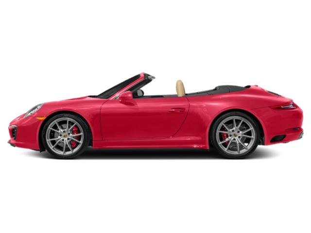 Guards Red 2018 Porsche 911 Pictures 911 Cabriolet 2D 4S AWD H6 Turbo photos side view