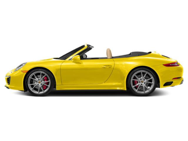 Racing Yellow 2018 Porsche 911 Pictures 911 Carrera 4 GTS Cabriolet photos side view