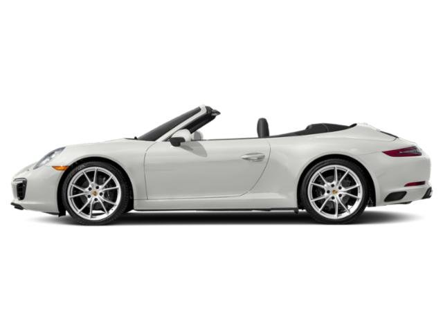 White 2018 Porsche 911 Pictures 911 Carrera Cabriolet photos side view