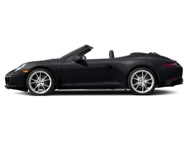 Jet Black Metallic 2018 Porsche 911 Pictures 911 Carrera Cabriolet photos side view
