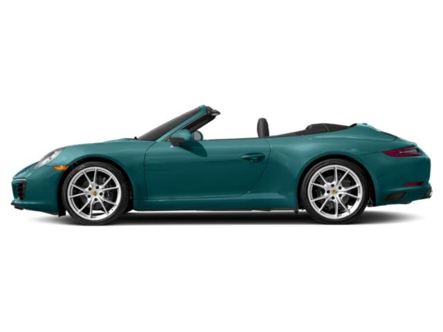 Miami Blue 2018 Porsche 911 Pictures 911 Carrera Cabriolet photos side view