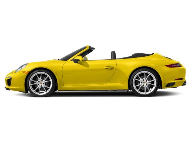 Racing Yellow 2018 Porsche 911 Pictures 911 Carrera Cabriolet photos side view