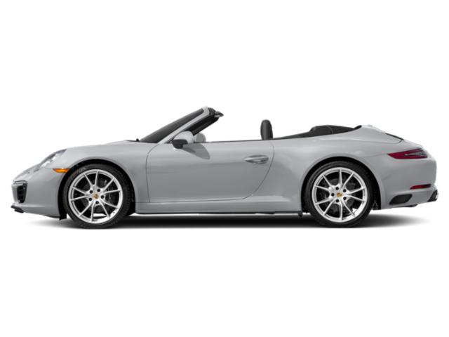 Rhodium Silver Metallic 2018 Porsche 911 Pictures 911 Carrera Cabriolet photos side view