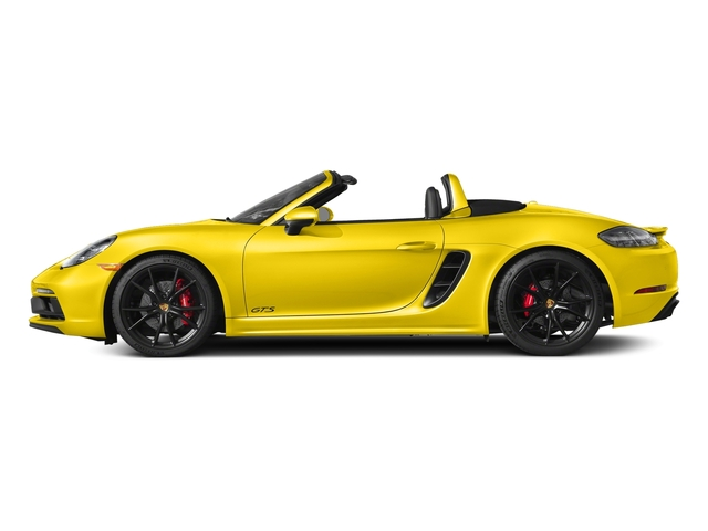 Racing Yellow 2018 Porsche 718 Boxster Pictures 718 Boxster GTS Roadster photos side view