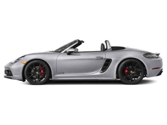 Rhodium Silver Metallic 2018 Porsche 718 Boxster Pictures 718 Boxster GTS Roadster photos side view