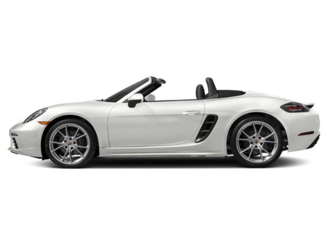 White 2018 Porsche 718 Boxster Pictures 718 Boxster Roadster 2D H4 Turbo photos side view