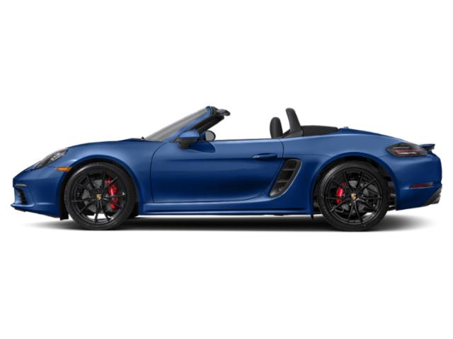 Sapphire Blue Metallic 2018 Porsche 718 Boxster Pictures 718 Boxster S Roadster photos side view