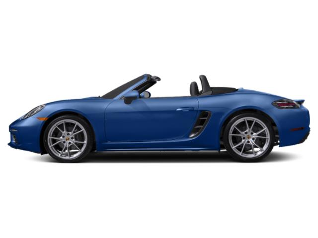 Sapphire Blue Metallic 2018 Porsche 718 Boxster Pictures 718 Boxster Roadster photos side view