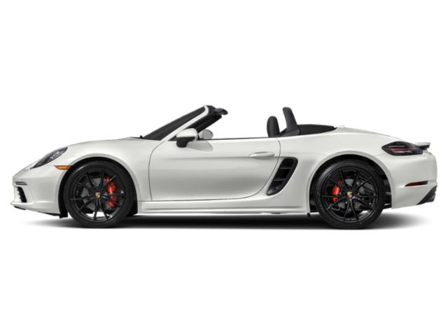 White 2018 Porsche 718 Boxster Pictures 718 Boxster Roadster 2D S H4 Turbo photos side view