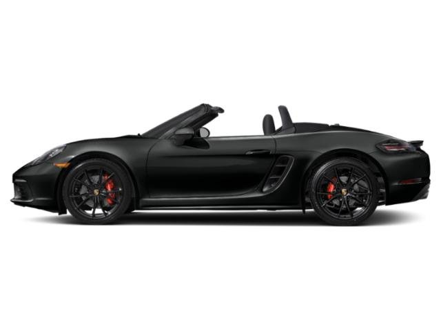 Jet Black Metallic 2018 Porsche 718 Boxster Pictures 718 Boxster Roadster 2D S H4 Turbo photos side view