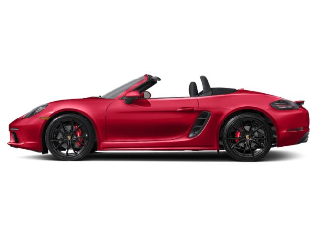 Guards Red 2018 Porsche 718 Boxster Pictures 718 Boxster S Roadster photos side view